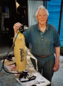 Ted Eldred with Porpoise scuba