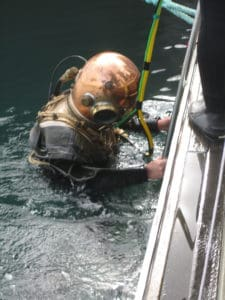 Diver in Robison helmet Portland Rally 2017